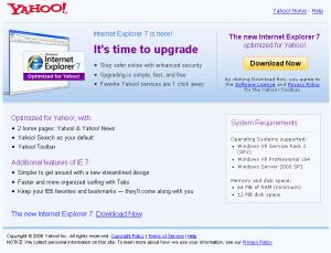 IE7 Yahoo