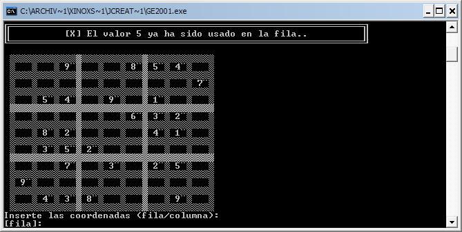 Sudoku en Java modo consola