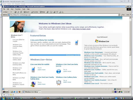 Windows 2000 emulado Virtual PC