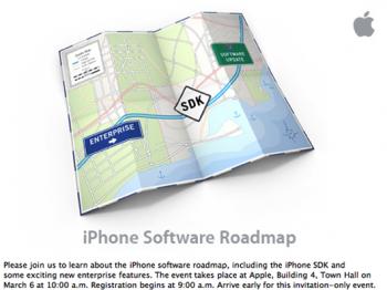 Anuncio sobre presentación del SDK del iPhone