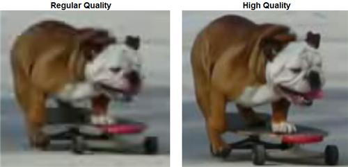 Diferencia entre la calidad normal de los videos en YouTube y la que posiblemente será la siguiente forma de ver los videos.