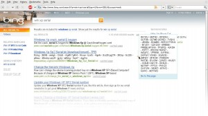 Bing ofrece números de serie de Windows