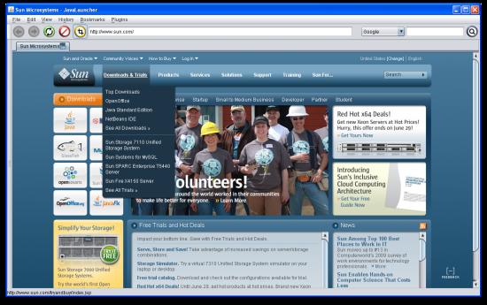 Ejemplo de una navegador en Java utilizando JWebPane