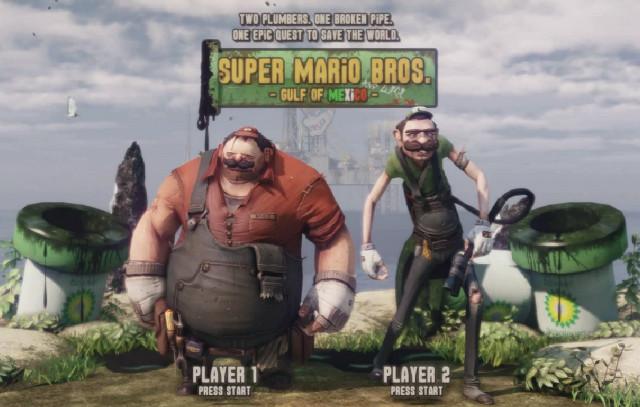 Pantalla de selección de personaje de Super Mario Bros: Edición Golfo de México